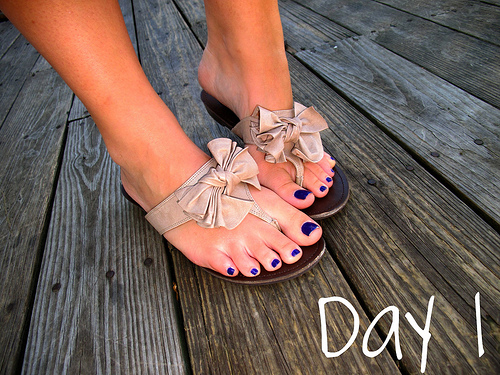 Closet Confessions: 30 Day Shoe Challenge DAY 1