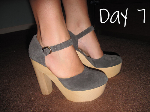 Closet Confessions: 30 Day Shoe Challenge DAY 7