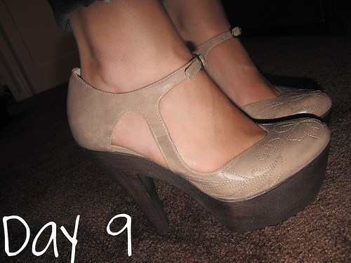 Closet Confessions: 30 Day Shoe Challenge DAY 9