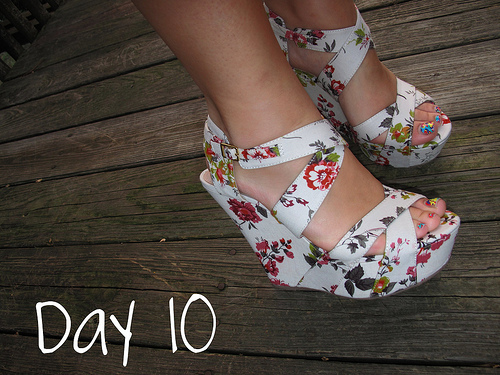 Closet Confessions: 30 Day Shoe Challenge DAY 10