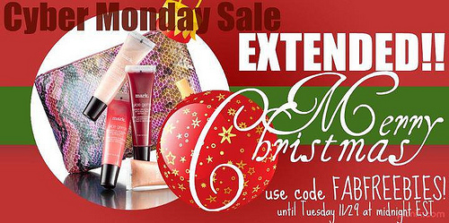 mark. Cyber Monday EXTENDED One Day!
