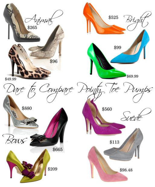 Dare to Compare: Pointy Toe Pumps