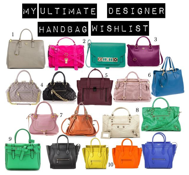 My Ultimate Designer Handbag Wishlist