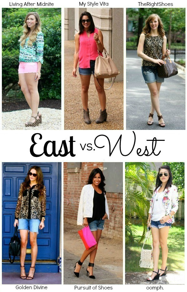 East vs. West Style: Denim Shorts