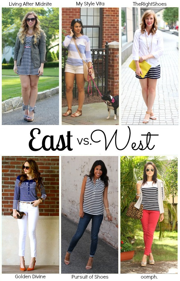 East vs. West Style: Nautical Stripes
