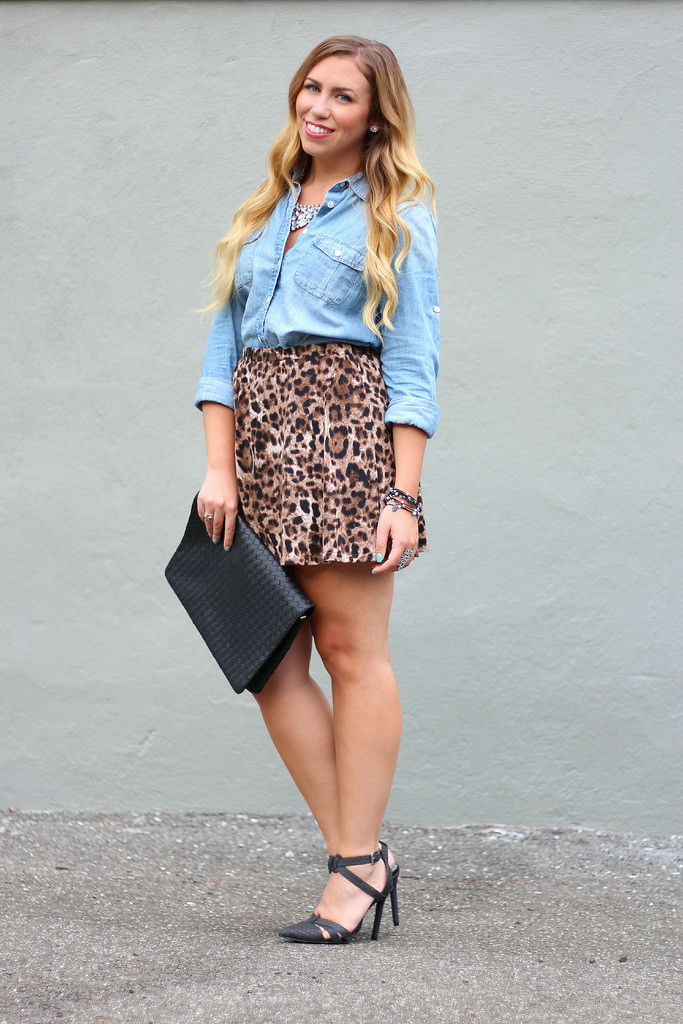Chambray & Leopard + a Bracelet Giveaway!