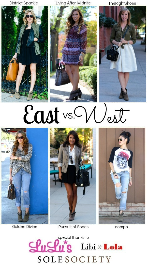 East vs. West Style: Booties