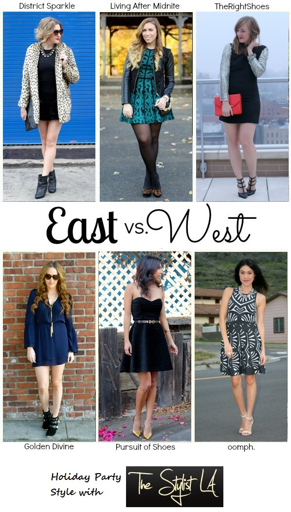 East vs. West Style: Holiday Party