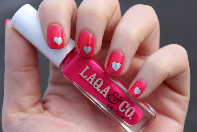 Sharpie Heart Nail Art