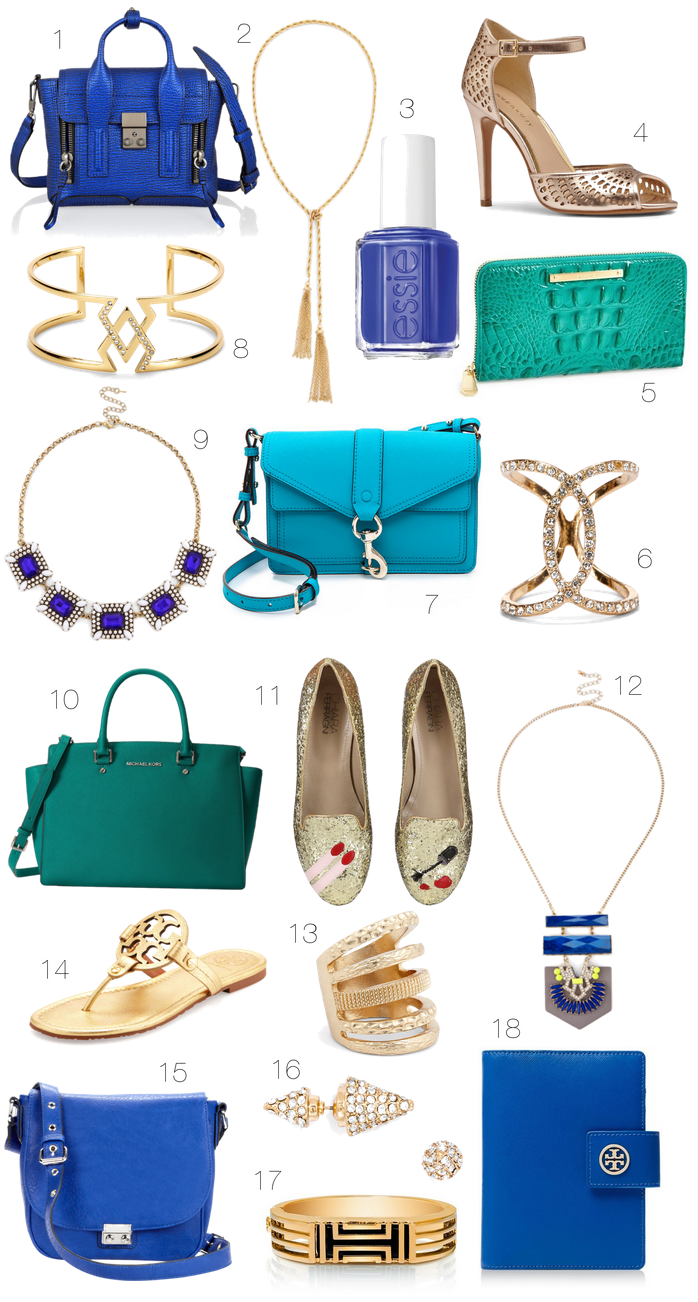 Obsession: Blue & Gold Accessories
