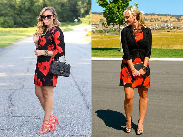 Wear & Share Wednesday: mark. Dark Blooms Dress