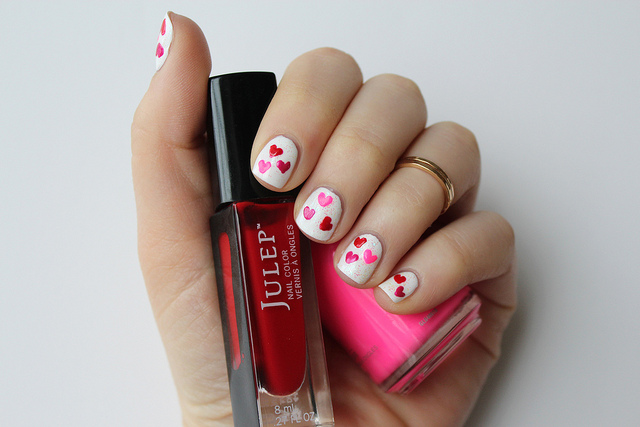 Valentine's Day Heart Manicure
