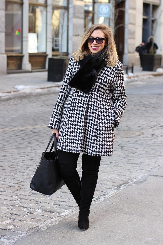 Bundled Up in Houndstooth