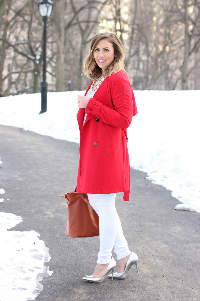 Winter White & Bold Red + A Valentine's Day Giveaway