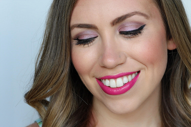 Makeup Monday: Soft Purple Eyes & Fuchsia Lips