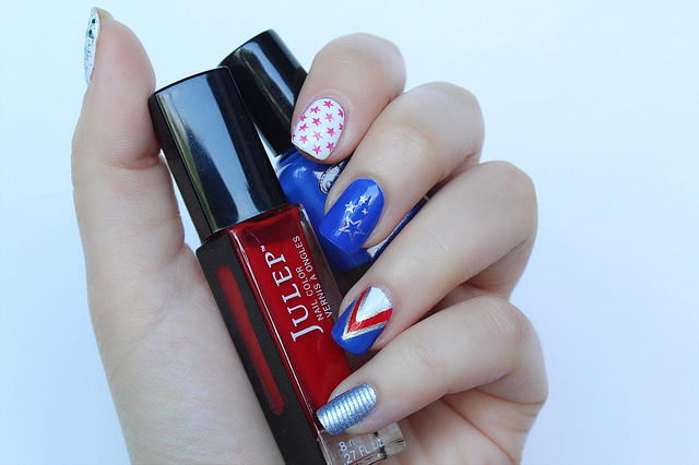 Fourth of July Manicure