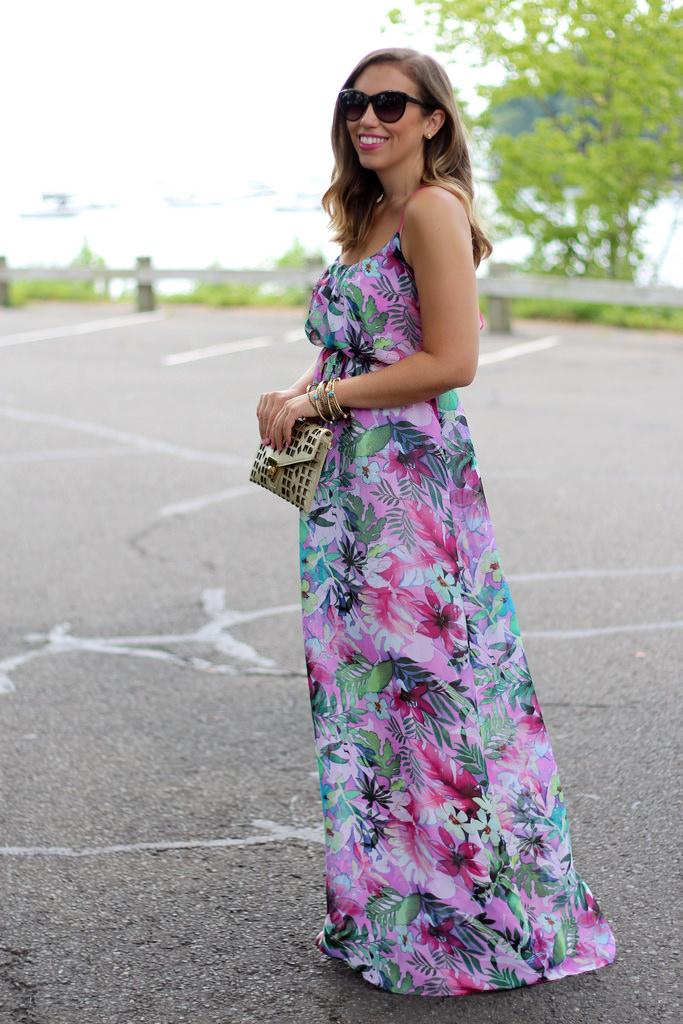 Tropical Floral Maxi