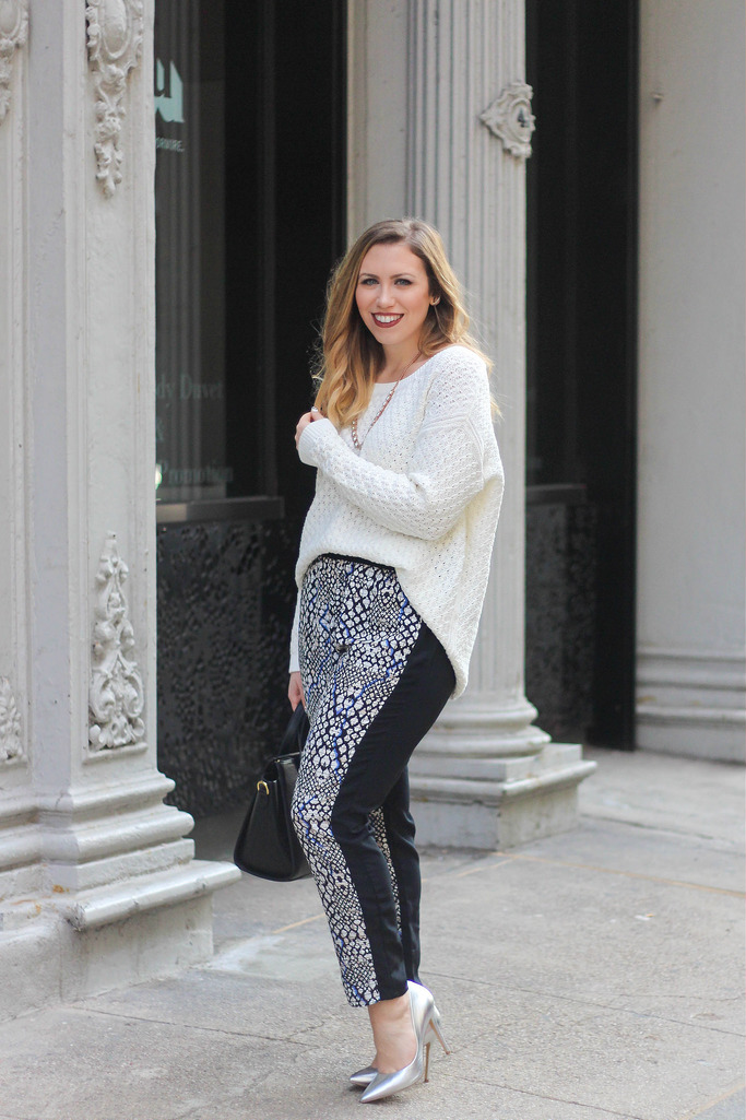 Chunky Knits & Printed Pants