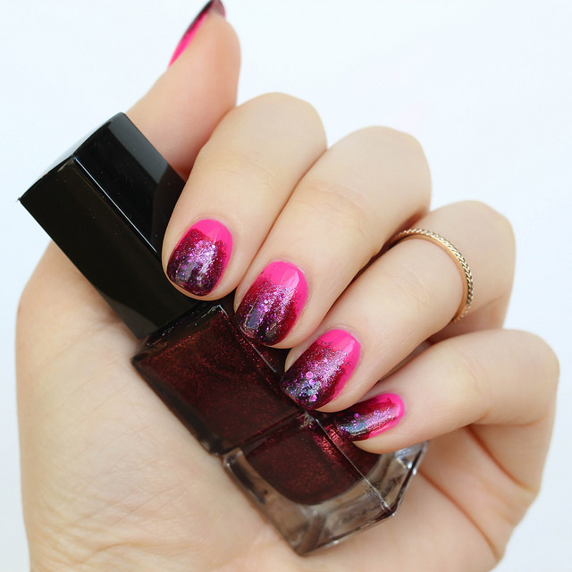 Valentine's Day Pink Ombre Manicure