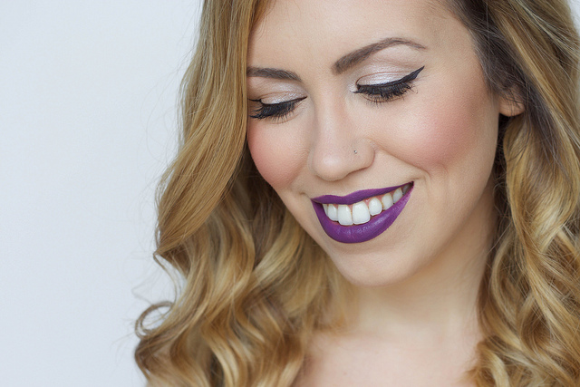 Makeup Monday: Dark Purple Lipstick