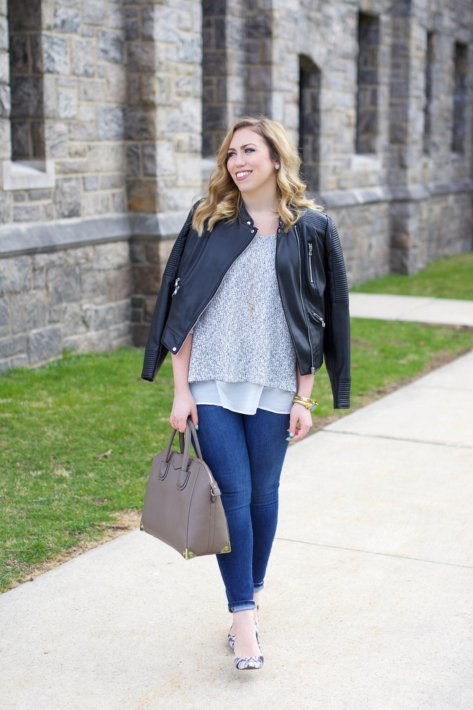 THE Faux Leather Jacket