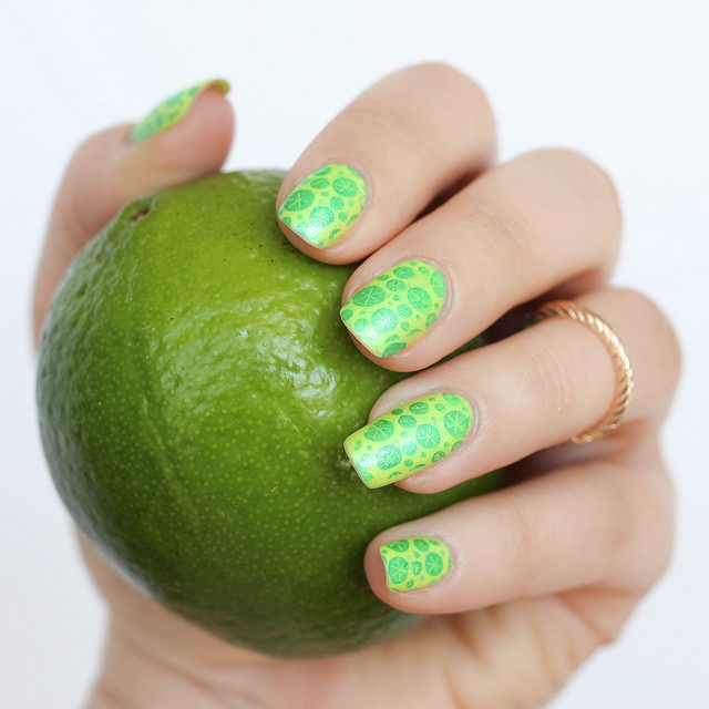 Lemon Lime Nail Art