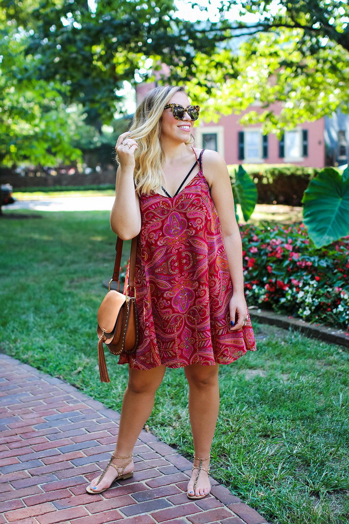 The Paisley Swing Dress