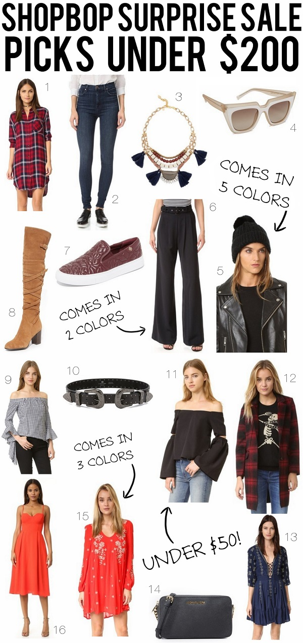 Shopbop Surprise Sale Picks Under $200