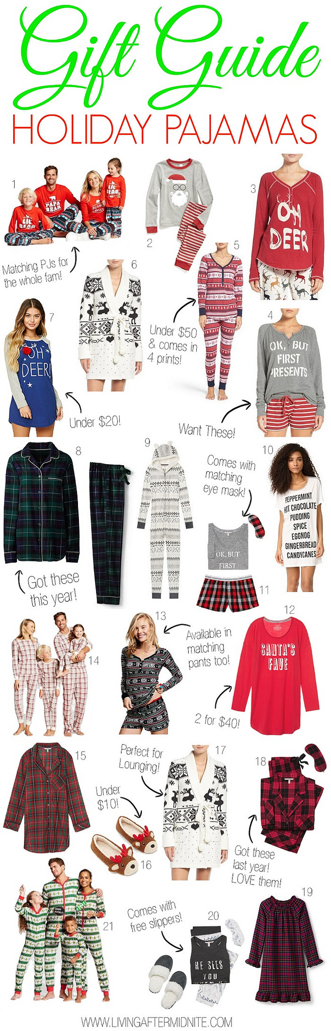 Gift Guide: Holiday Pajamas for the Whole Family