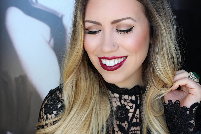 Makeup Monday: Matte Wine Lipstick