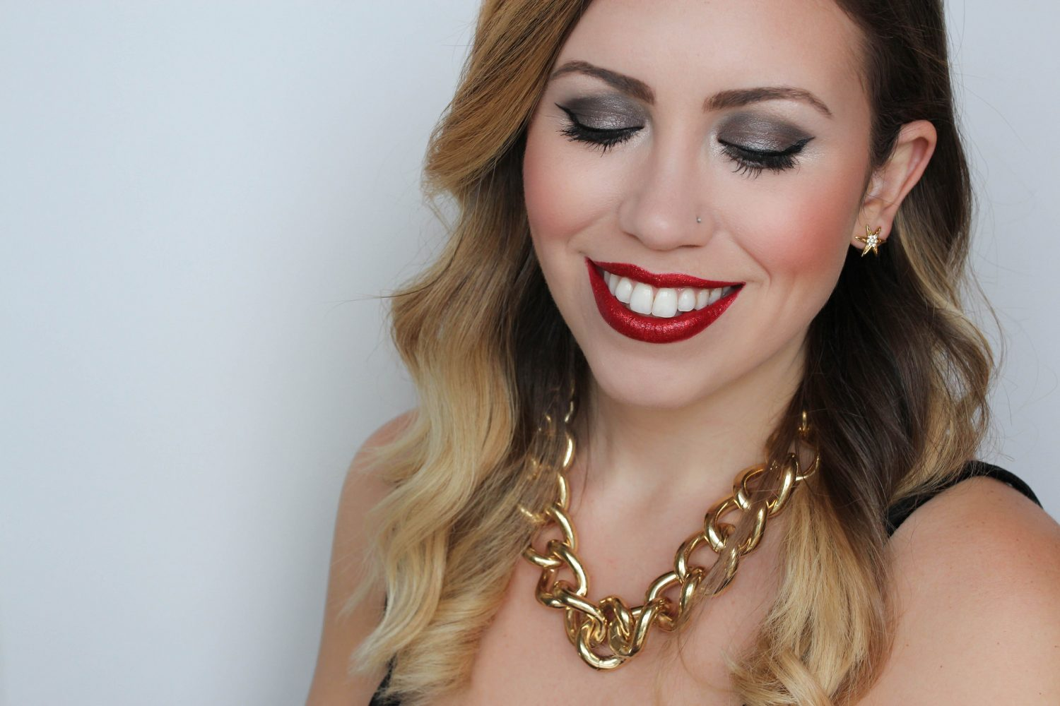 NYE Red Glitter Lips