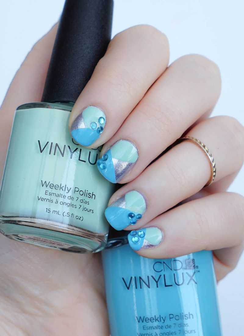 CND Vinylux Weekly Polish in Mint Convertible & Aqua-Intance