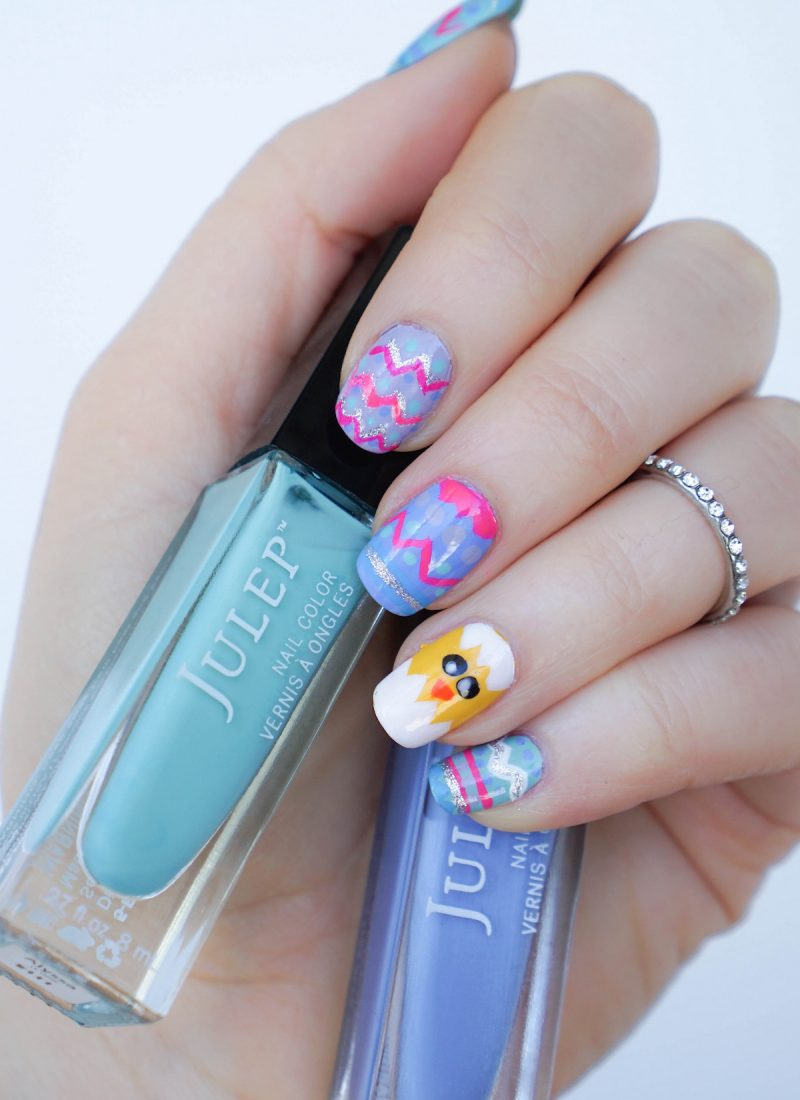 Easter Egg Nail Art with Pastel Julep Nail Polish