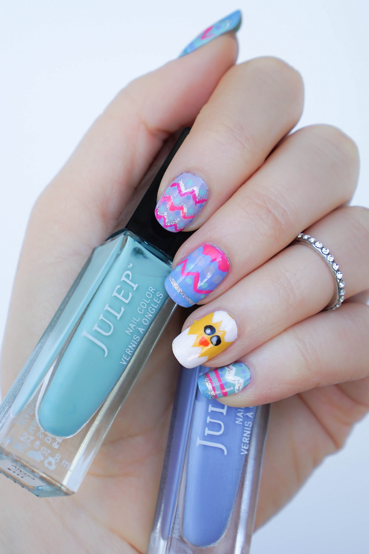 Pastel Easter Egg Nail Art