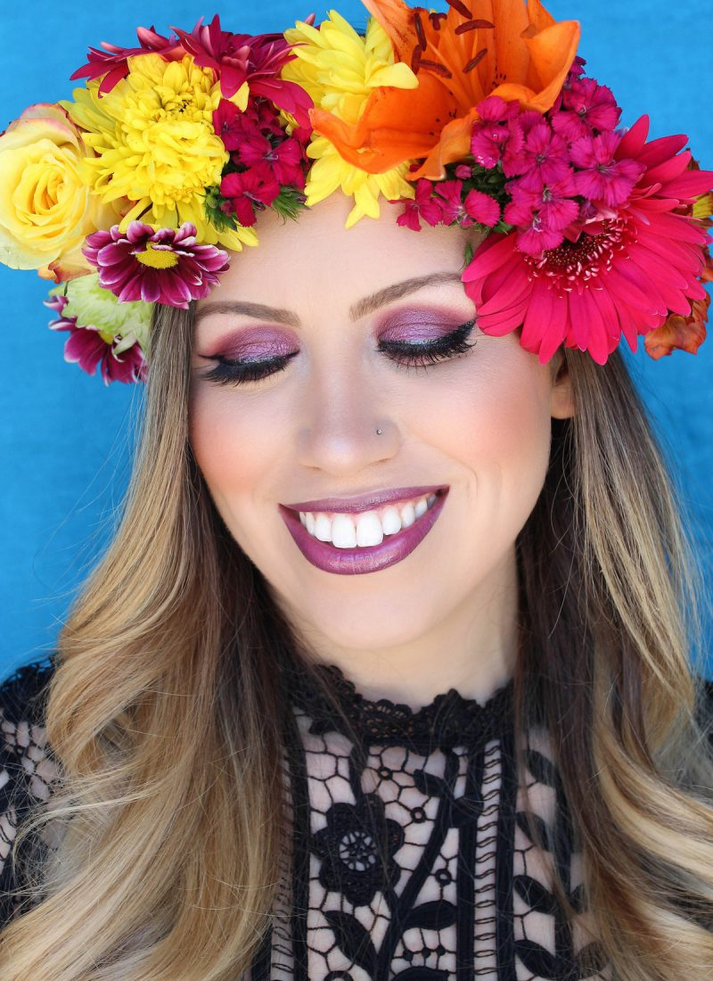 How to Make a Flower Crown Easy DIY Real Flower Crown Festive Style Inspired Makeup