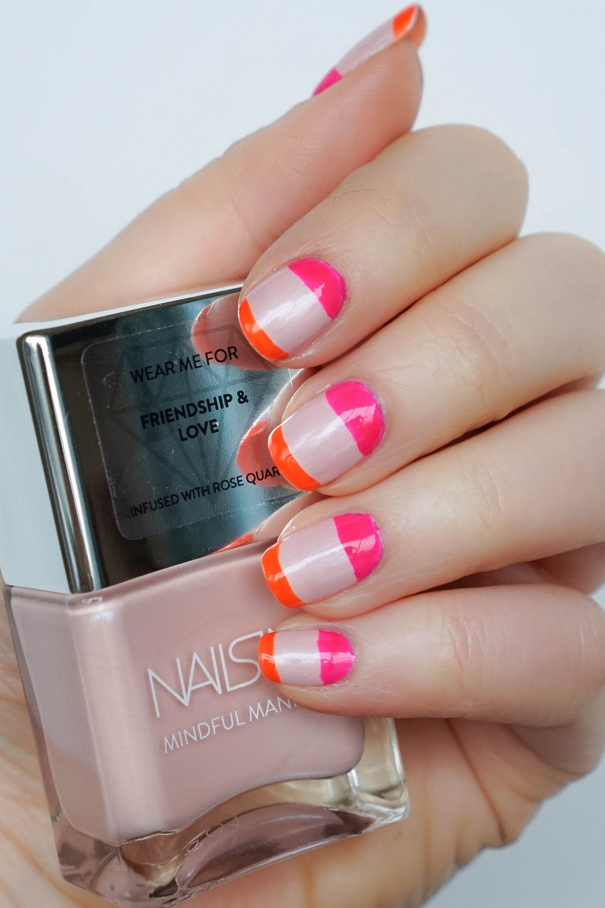 Blush and Bold Manicure with Crystal Infused Nail Polish