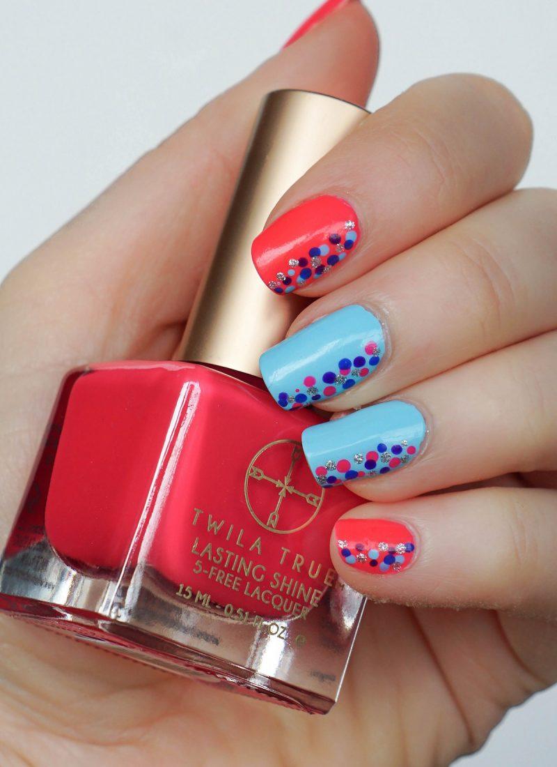 Colorful Confetti Nail Art