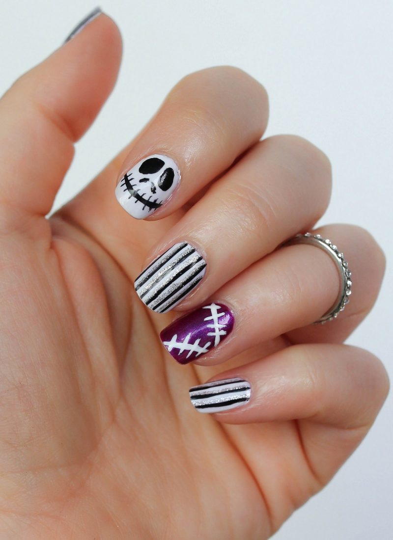 Step-by-Step Nightmare Before Christmas Manicure Tutorial