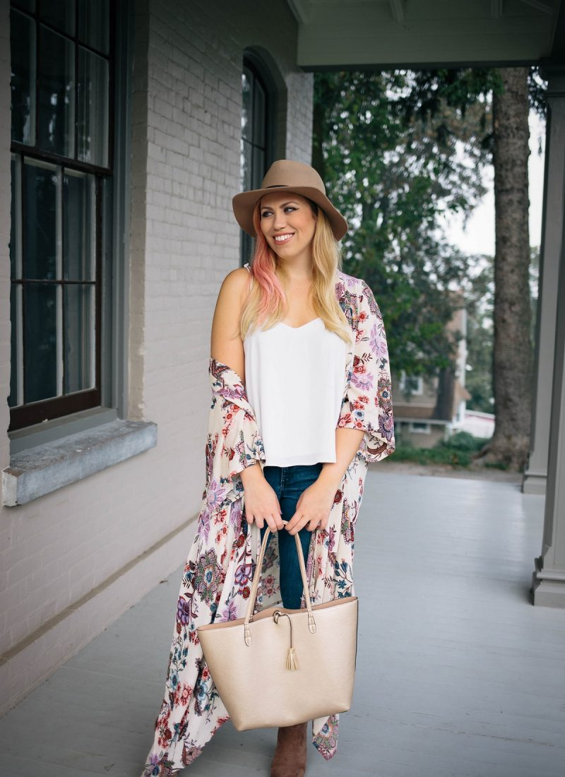 The Ultimate Warm Weather Fall Accessory: The Kimono