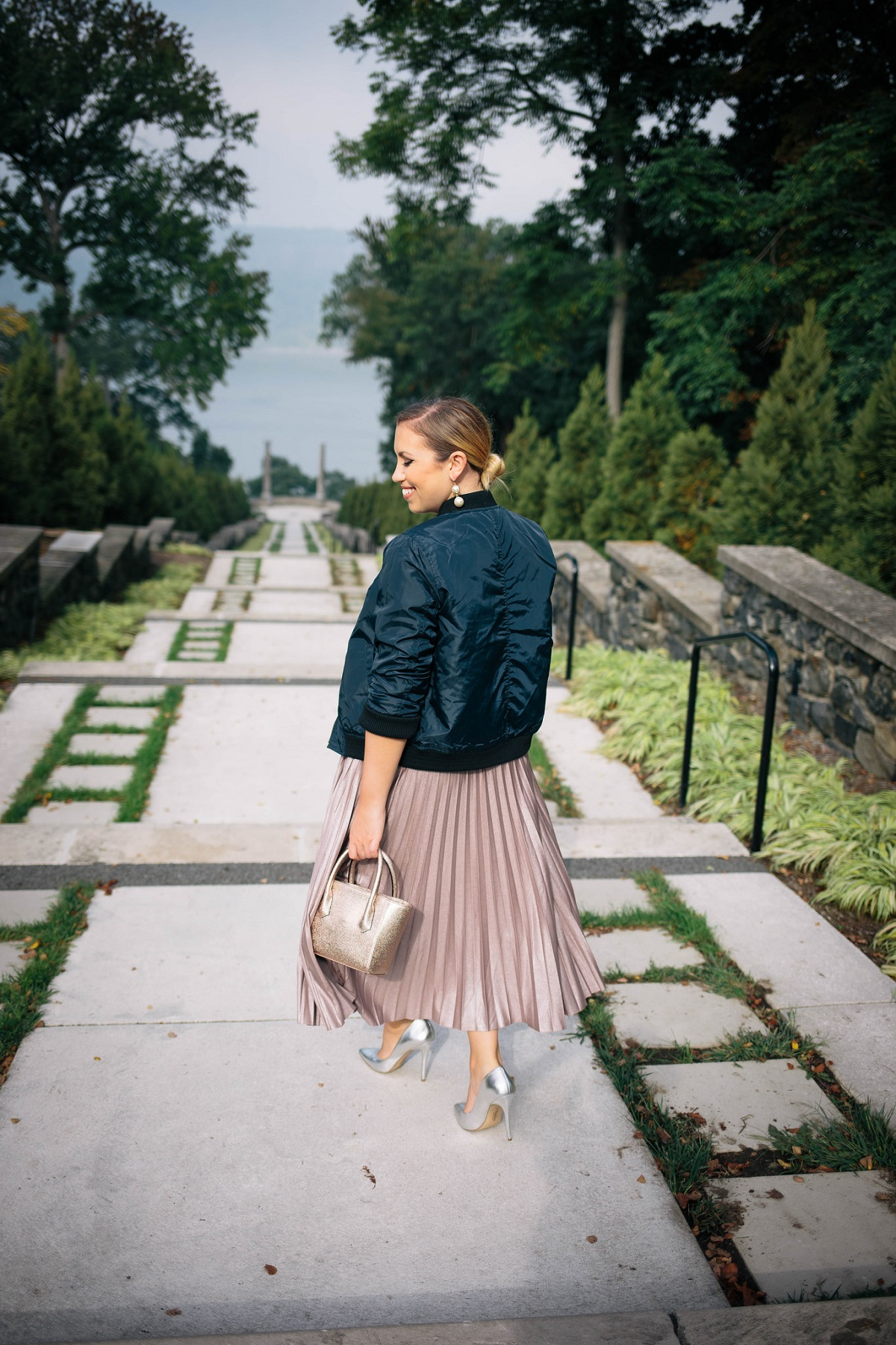 Holiday Must Have: The Metallic Pleated Skirt