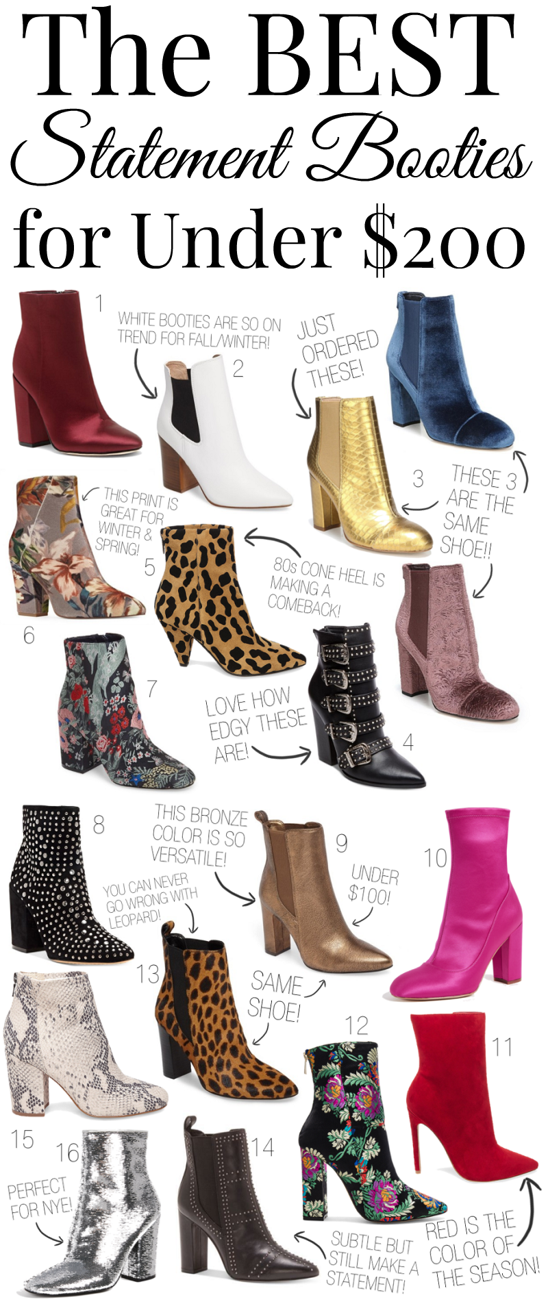 The BEST Statement Booties for Under $200