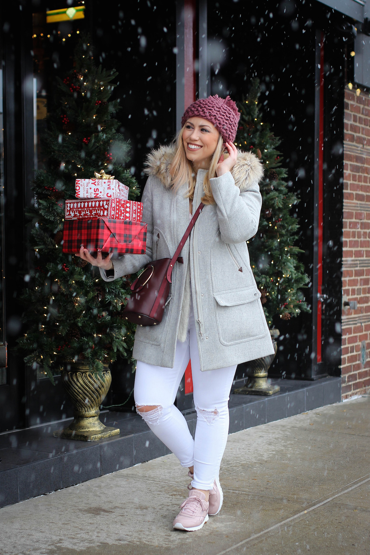 Bundled Up in a Holiday Athleisure Look with Reebok