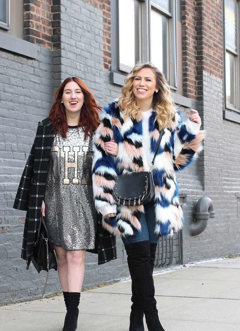 The Statement Pieces You Should Have In Your Closet Sequin Dress Colorful Faux Fur Coat