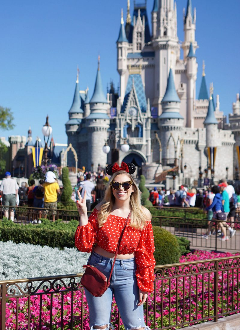 Jackie Giardina Photo Magic Kingdom Cinderella Castle Orlando Florida Walt Disney World How to Do Universal and Disney in Three Days