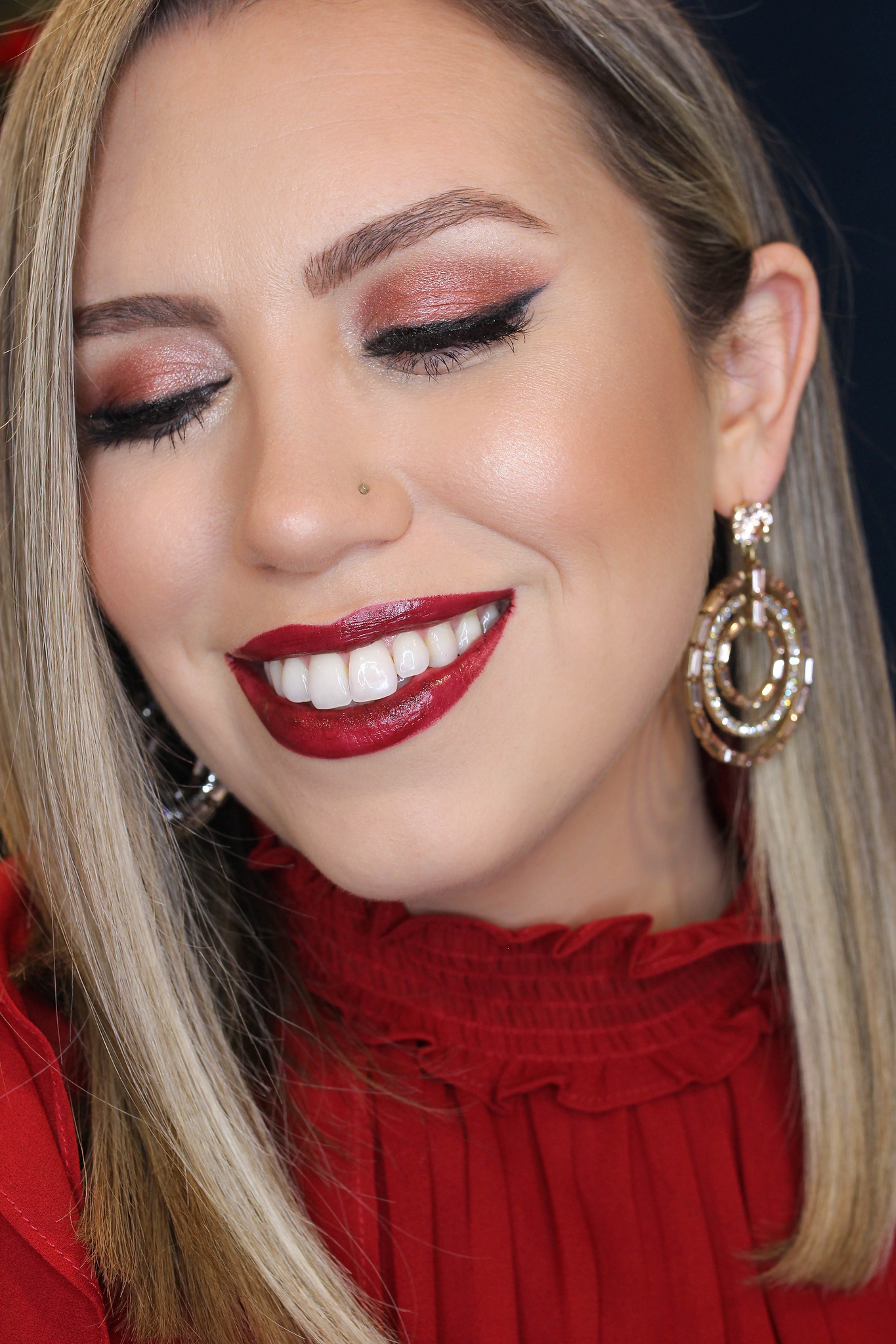 Holiday Makeup Monday Tutorial: Monochromatic Wine Makeup