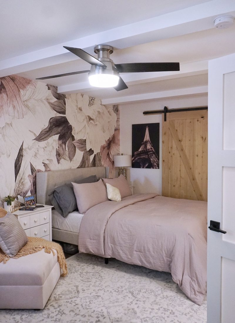 Before & After: Feminine Chic Bedroom Renovation