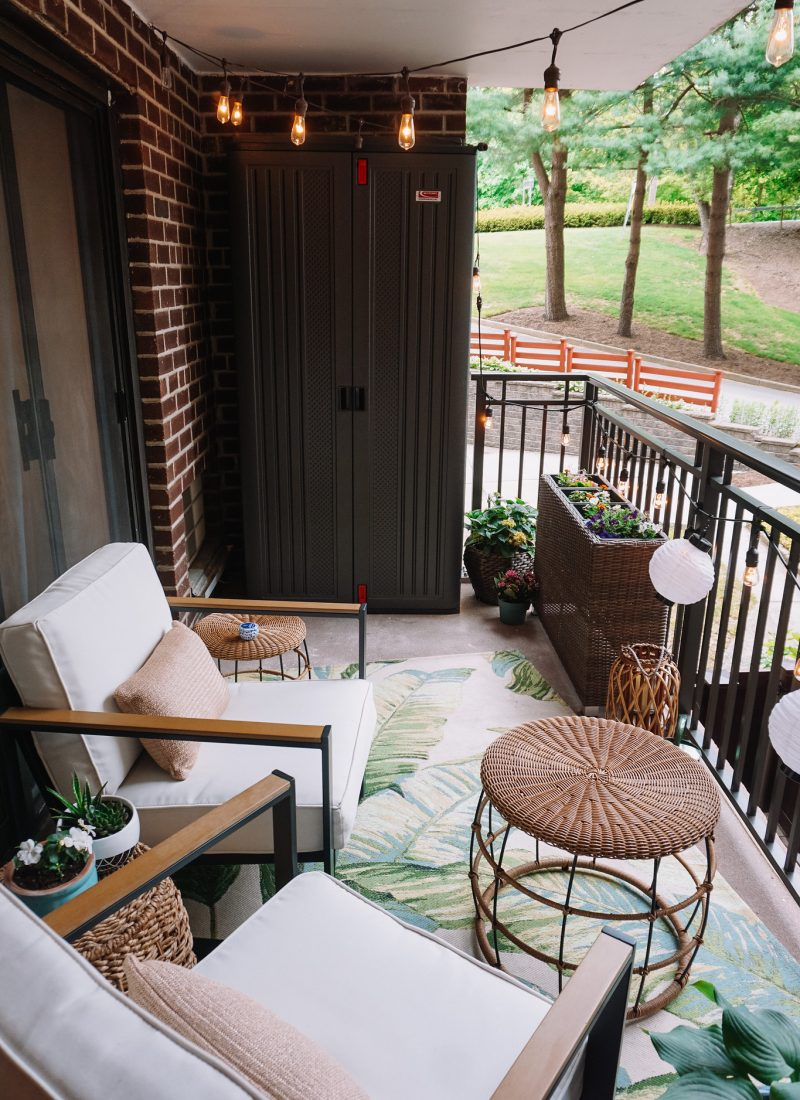 My Apartment Balcony Reveal + More Affordable Outdoor Inspiration