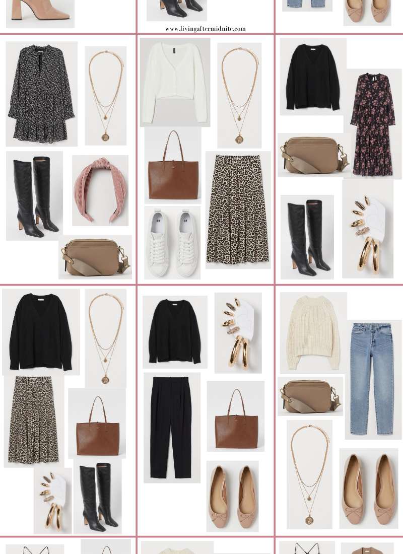 Affordable H&M Fall Capsule Wardrobe | 26 Pieces, 48+ Outfits