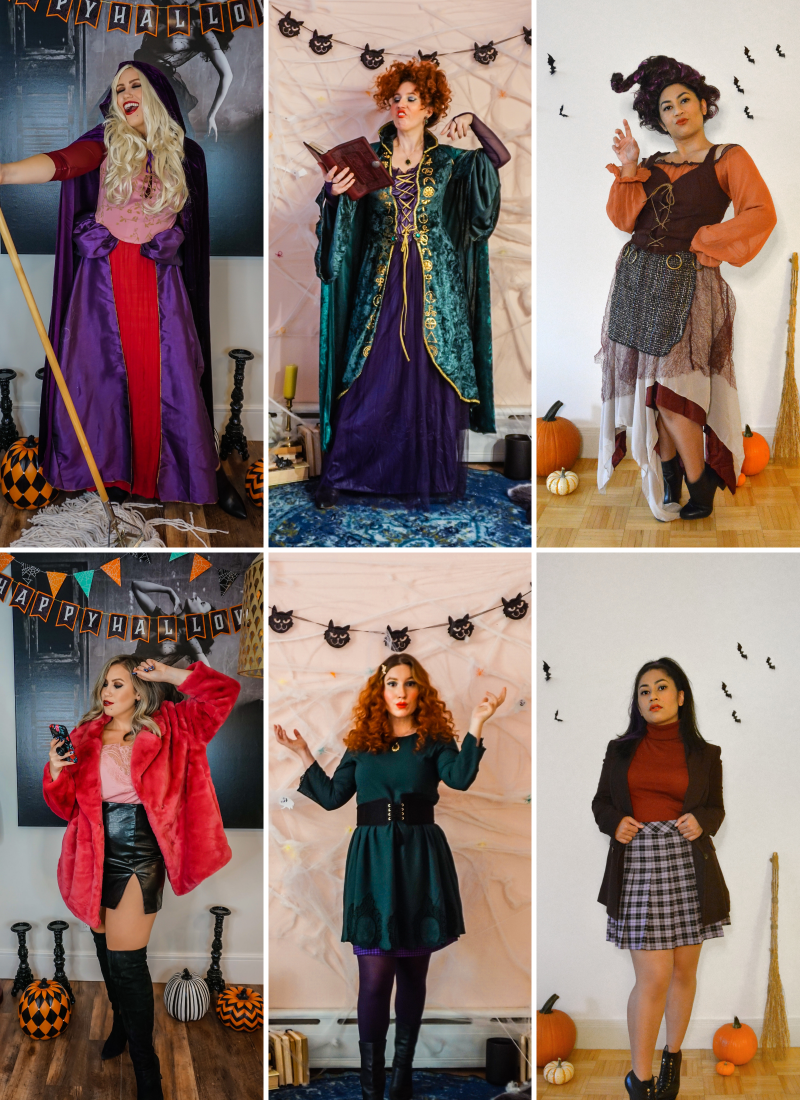 Hocus Pocus Halloween Costume   Sanderson Sisters Costumes   Sarah, Winifred & Mary Sanderson   Sanderson Witches   Girl Group Halloween Costume   Halloween Costumes College   2020 Halloween DIY