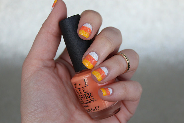 Candy Corn Nails | Halloween Nails | #LivingAfterMidnite